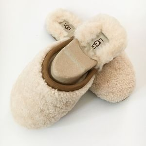 UGG Pearly Curly Cue Slippers in Natural - 8 -